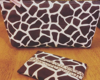 Giraffe Make Up Bag and Tissue Holder