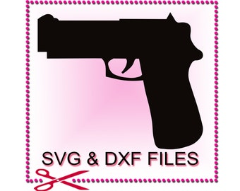 Gun SVG Files for Cutting Pistol Cricut Rifle Designs - SVG Files for Silhouette - Instant Download