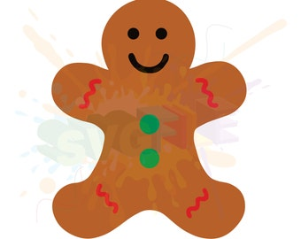 Gingerbread Man SVG Files for Cutting Holiday Cricut Designs - SVG Files for Silhouette - Instant Download