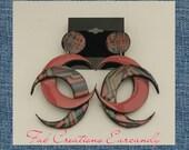 Handmade Accessories, Handmade Earrings, Funky Earrings, Unique Earrings, Edgy Earrings, Crescent Moon Earrings, Statement Earrings
