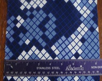 100% Silk Crepe - Diamondback blue