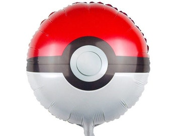 "17.5"" Pokemon Pokeball Foil Party Balloons"