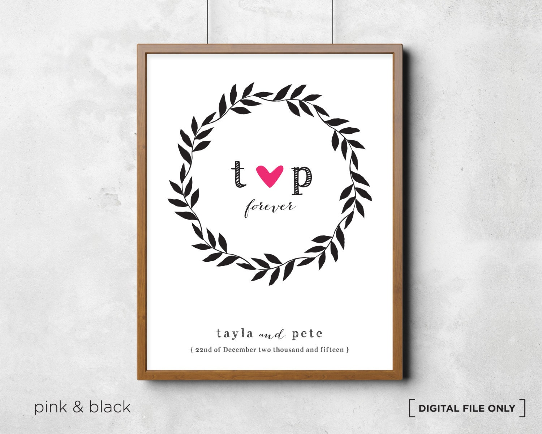 Wedding Gift Paintings: Wedding Gift. Love Wall Art. Wedding Wall Art Personalized