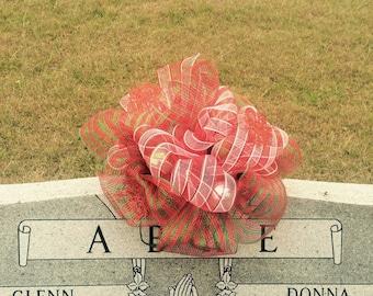 Christmas headstone saddle