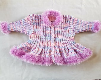 GORGEOUS!!! Girl's Fur-Trimmed Jacket 1-2 years