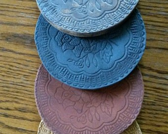 Decoration | Clay | Coasters - round