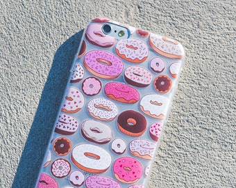 Donuts iPhone Case - iPhone 6s Case, iPhone 6 Case, Donut Phone Case, Bright, Fun, Vibrant, Retro, Fitness, Health, Design, Illustration,