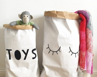 TOYS -  White or Brown Strong Paper Storage Toy Bag 55x85cm/50x76cm