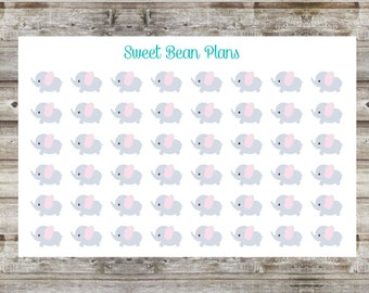 40+ Cute Baby Elephant Planner Stickers