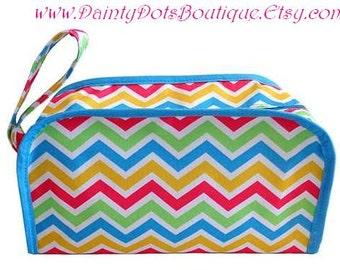 Monogram Cosmetic Bag | Monogram Makeup Bag | Kentucky Cosmetic Bag | Monogram Accessory Bag | Monogram Zipped Makeup Bag | Wedding Gift