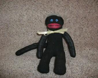 black sock monkey