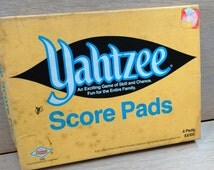 Yahtzee Four Score Pads With Dice By E S Lowe a Division of Milton Bradley Company 1973