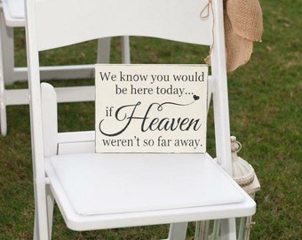 WEDDING MEMORIAL SIGNS | In Memory of Signs | Wood Signs | 8 x 10