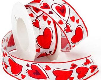 "1 1/2"" Morex Valentine Ribbon - For You - WE"