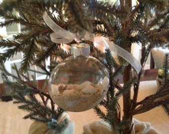 Christmas Ornaments, Shells, Set Of Two