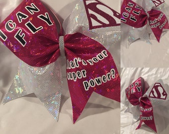 I Can Fly Cheer Bow (other colors are an option)