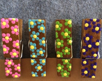 Flower Chip Clips // Clothespins // Kitchen Clips
