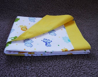 flanel pique double sided baby blanket
