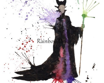 EVIL - Watercolour - work dated and signed - delivery available in France!
