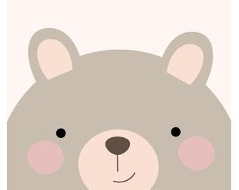 Bear Print - A3