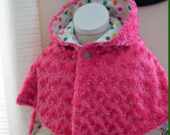 Pink Bunny Faux Fur Cape