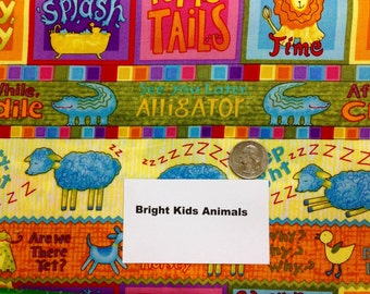 Bright Kids Animal Fabric - 2 Yards