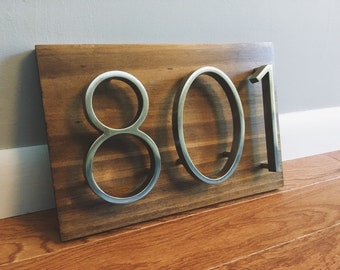 Modern House Numbers- Horizontal