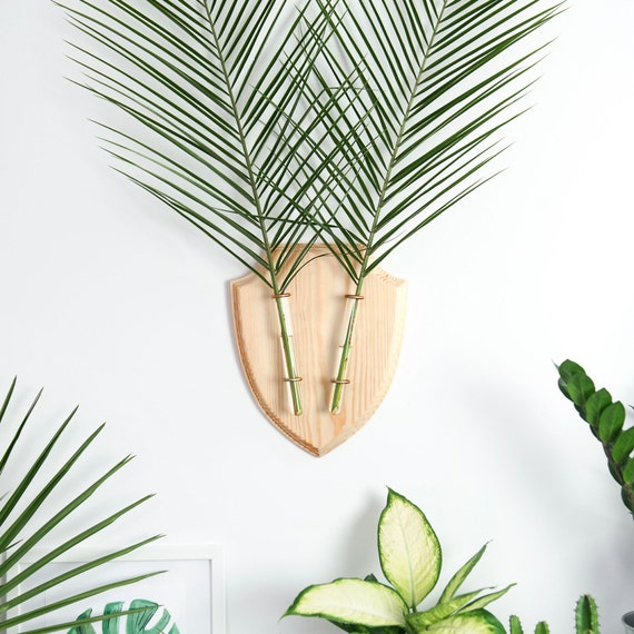 Hanging Wall Planter, Wall Vase,  Indoor Hanging Planter, Botanical Wall Decor