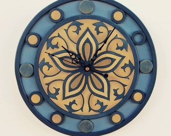 Wall clock | Wall decor | Mandala art | Clock |  Wooden decor | Wall art | Spirituality | Housewarming Gift