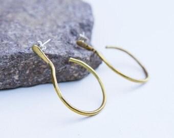 Hoop earrings, Brass