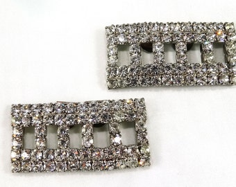 Vintage Crystal Shoe Clips