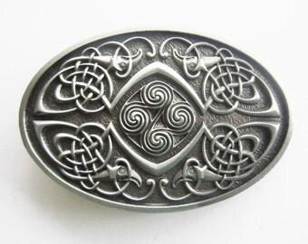 Classic Keltic Celtic Knot Oval Belt Buckle