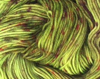 Grouch - Hand dyed Superwash merino wool Dk yarn READY TO SHIP