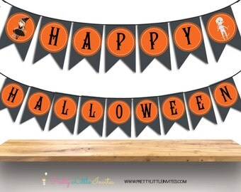 Printable Halloween Banner - Instant Download - Halloween Party Banner - Halloween Decoration - Happy Halloween Banner - Halloween Bunting