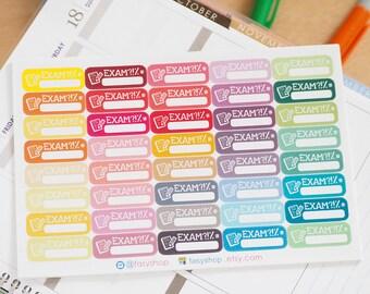 40 Exams Sticker Planner