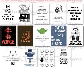 Star Wars Lunch Note Cards | Inspirational | Motivational | Children | Lunch Box Note | Kindergarten | Back to School | Love Note
