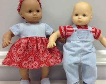 Bitty Baby Twins doll clothes: denim outfits