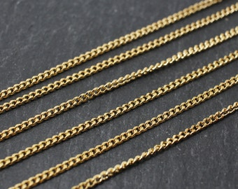 N0004/Anti-Tarnished Gold Plating Over Brass/145SF Luster Chain/1.8mm/1yard