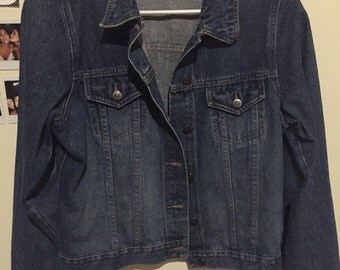 vintage, 90s blue denim jacket