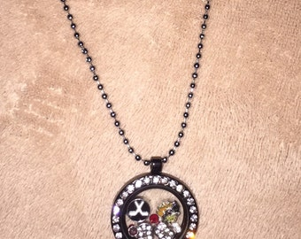 Chicago Blackhawks Living Locket with Floating Charms & Gems