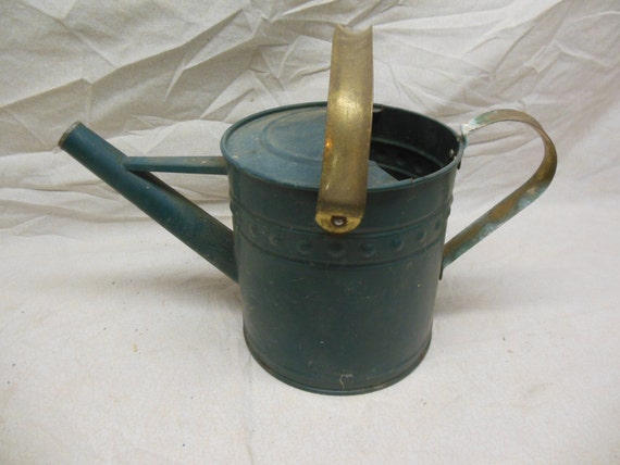 Vintage unique metal watering can shabby chic gardening - Unusual watering cans ...