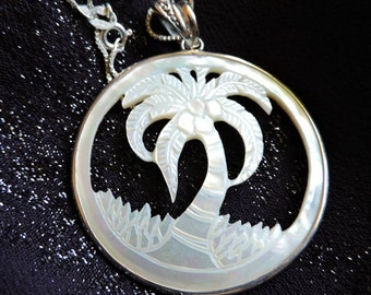 Shell Pendant Necklace Sterling Silver