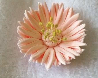 12 Gerbera Daisy Fondant Flower III Gumpaste Flower Fondant Daisy Gumpaste Daisy Cupcake Topper Edible Flower Cake Topper Wedding Cakes