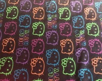 Hello Kitty fleece tie blanket