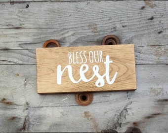 Wood sign, Rustic Home decor, Wood wall art, Living room decor,  Wooden Home decor