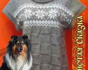 Waistcoat from dog wool (collie) // Hand spun
