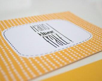 "Post card ""Hello small pie!"""