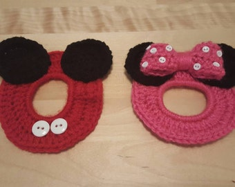 Mickey and Minnie Mouse inspired lens buddies