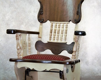 "Rocking chair, ""Victorienne"" line."