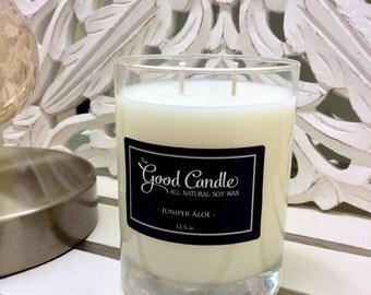 Juniper Aloe - Double Wick Soy Wax Candle
